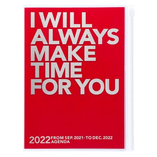 Agenda 2021-2022 Mark's Japan Clear Storage A5 Rouge – sep21 à déc22