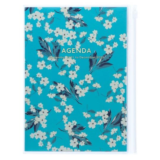 Agenda 2021-2022 Mark's Japan Flower pattern A5 Turquoise – sep21 à déc22