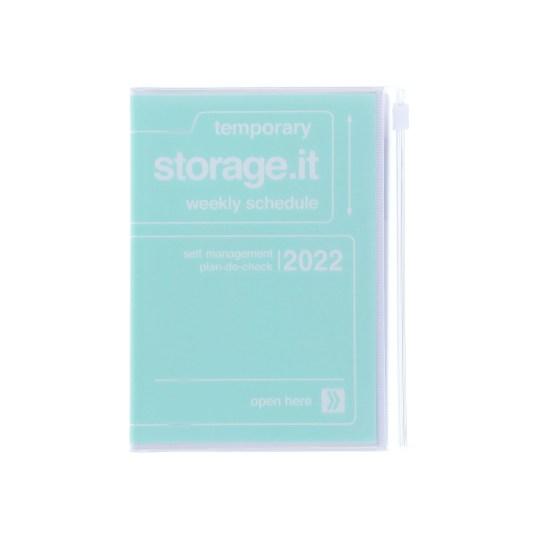 Agenda 2021-2022 Mark's Japan Storage it A6 Vert Menthe – sep21 à déc22