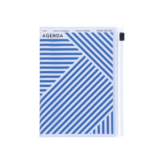 Agenda 2021-2022 Mark's Japan Geometric Pattern A6 Bleu – sep21 à déc22