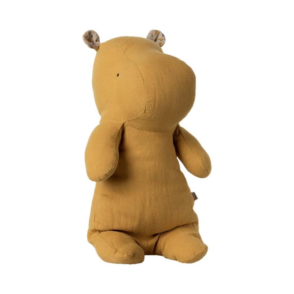 Peluche 30cm Safari Friends – Le Hippo Jaune Cendré