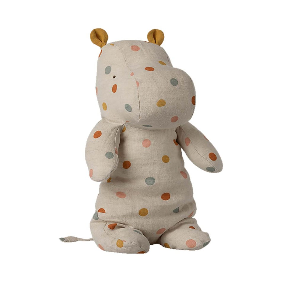 Peluche 30cm Safari Friends – Le Hippo Pois Multicolores