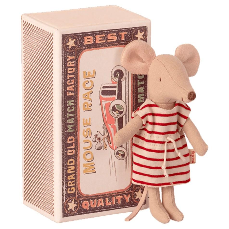 Mice in a Matchbox by Maileg Petite souris Grande Soeur dans sa Boite d'allumette