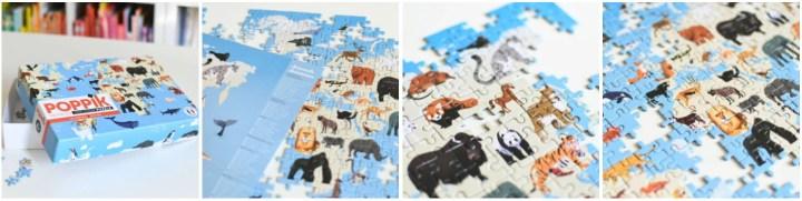 La collection Puzzle 500 pièces Poppik Animaux du monde