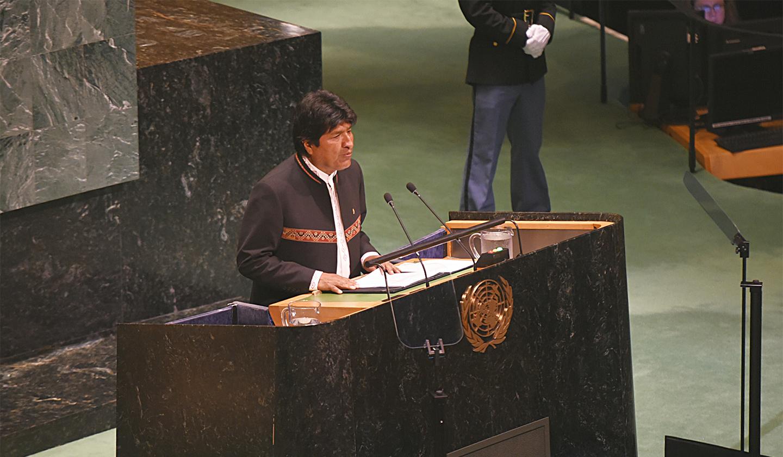 Evo en la ONU
