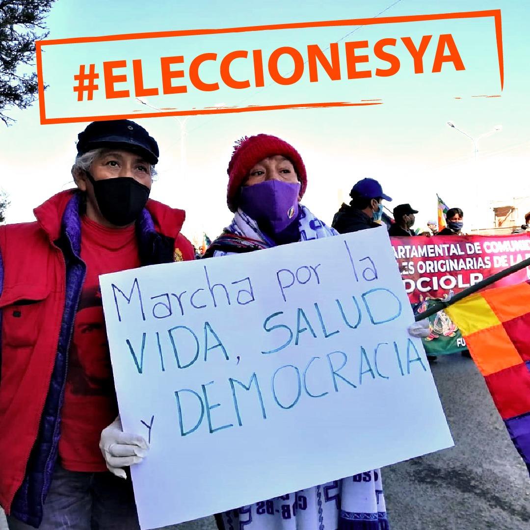 Marcha en Bolivia