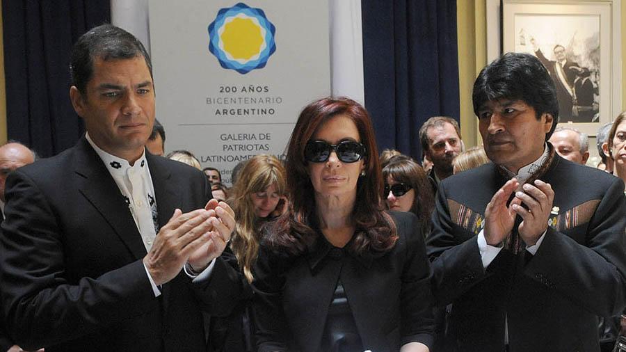 Evo, Correa y Cristina