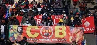 Protesta COB una