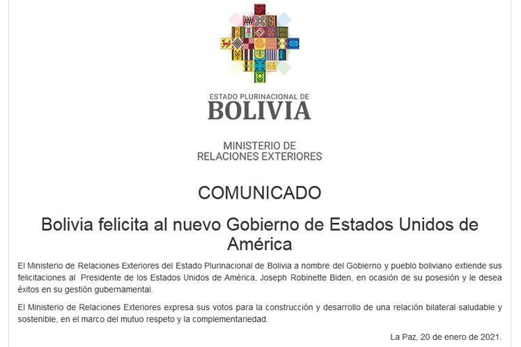 Bolivia Cancilleria