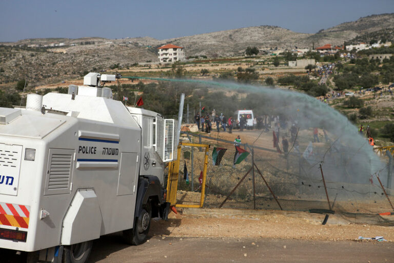 Protest against Israeli Separation Wall and occupation, Bil'in,
