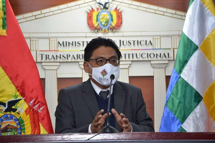 ministro de Justicia de Bolivia, Iván Lima