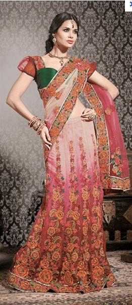 manish malhotra bridal saree