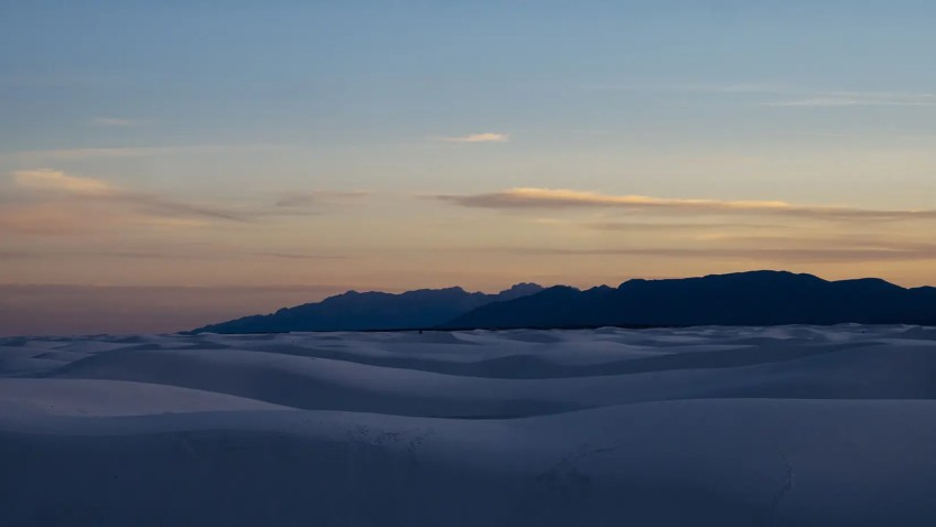 white sands coucher soleil usa