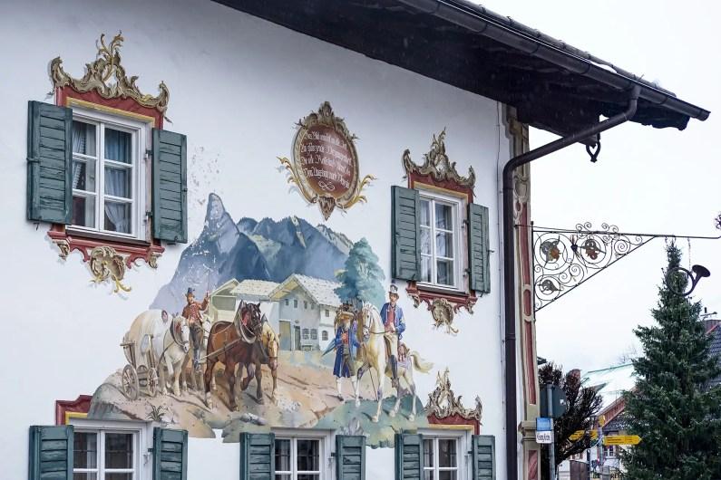 Oberammergau façade peinte