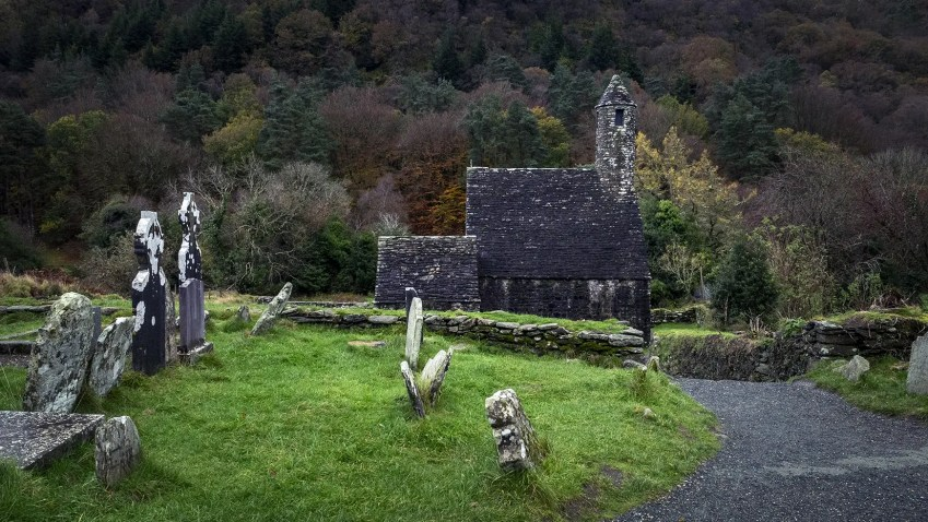 Glendalough monastère cimetière