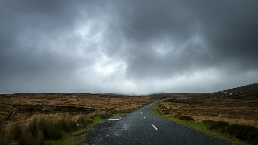 route nuages Wicklow Mountains