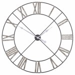 Extra Large Distressed Contemporary Skeleton Metal Wall Clock Furniture La Maison Chic Luxury Interiors