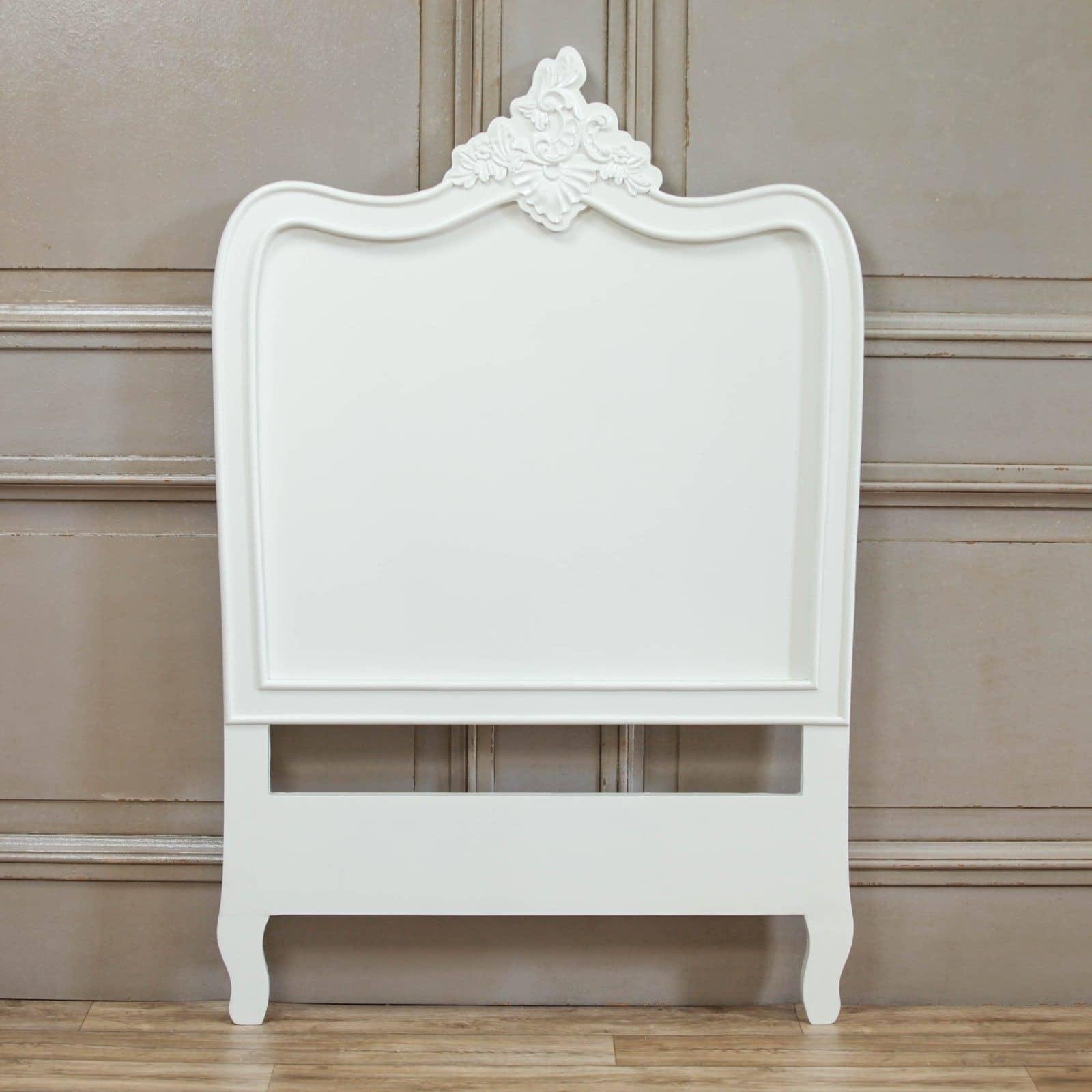 French White 3ft Single Headboard Furniture La Maison