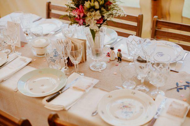 table de mariage en normandie location vaisselle vintage