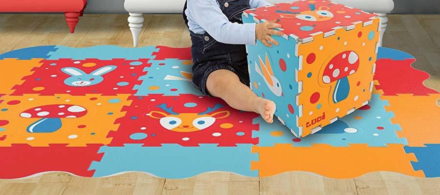 test du tapis puzzle mousse bebe ludi