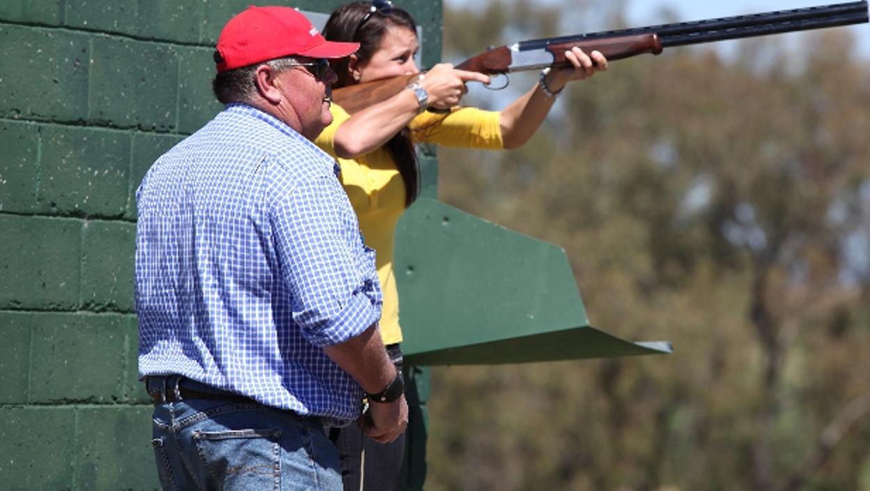 couple with gun