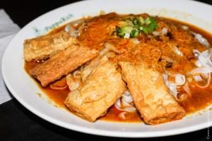 "végétarien-""Poisson"" tofu frit"
