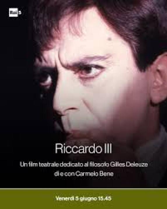 Rai5 - Carmelo Bene dà voce e corpo ad un Riccardo III... | Facebook