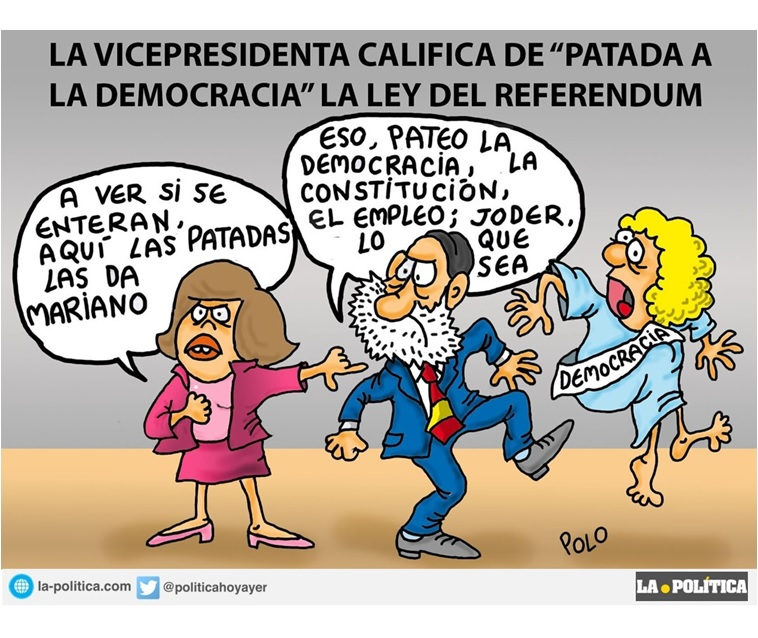 Image result for referendum cartoon cataluna
