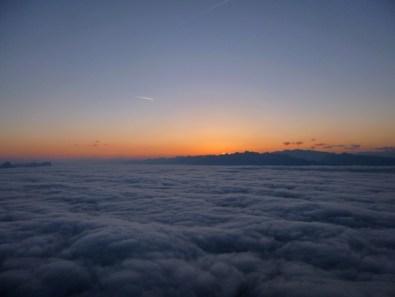 Mer de nuage au petit matin
