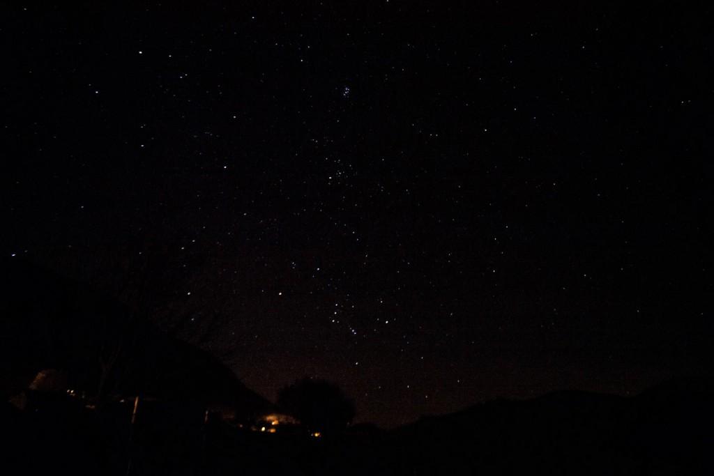 Les étoiles, visibles sans peine...