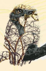 Owl, double exposition Nature. Crédit Photo Alexandre De Vries, La retouche photo