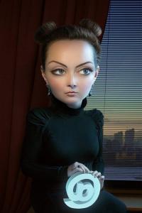 Alexei Sovertkov, Portraituning_Young woman