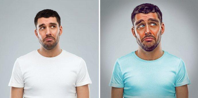 """""""Gray"""" le tristounet, projet 7 expressive brothers sur le blog La retouche photo"""