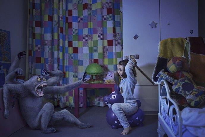 """Un jour, un artiste : Laure Fauvel """"Terreurs 3"""". La retouche photo, le blog."""
