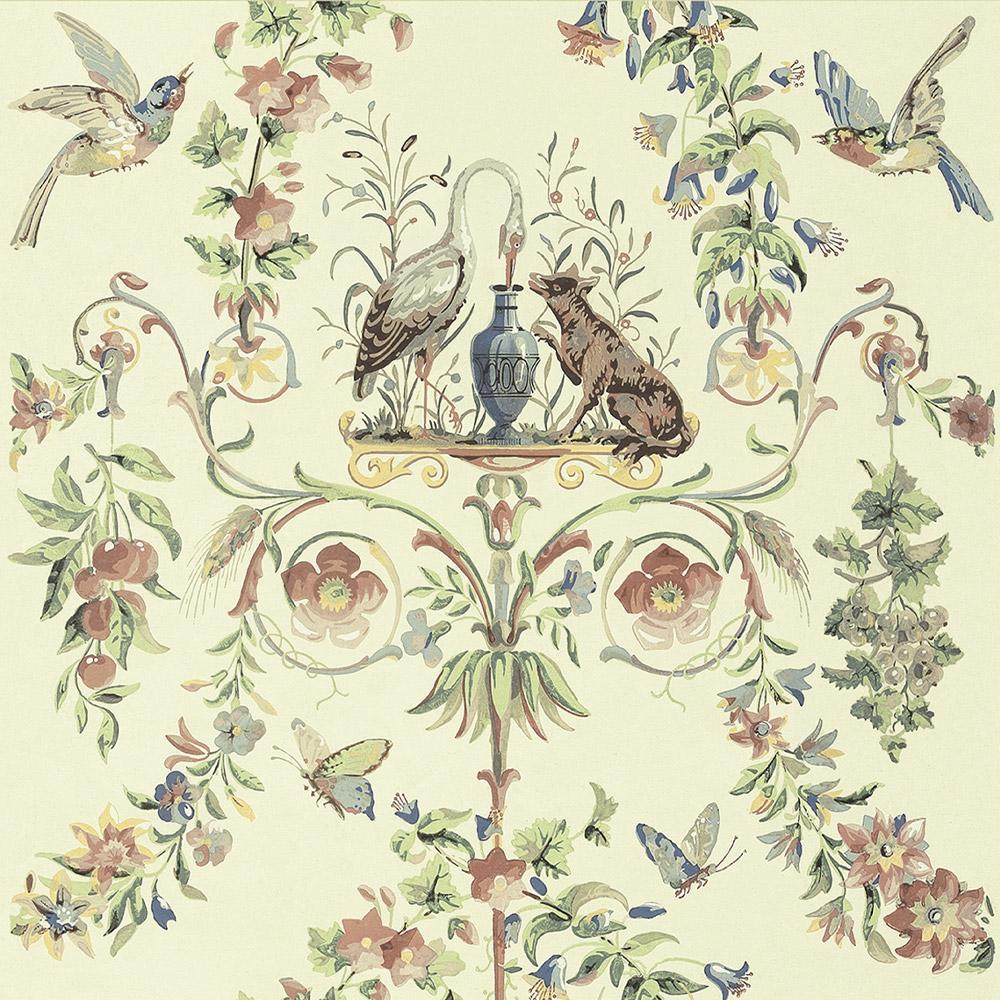 papier peint decoratif les fables de la fontaine