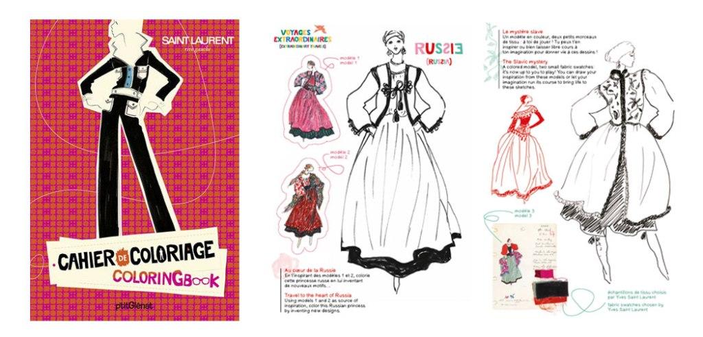 Livres à colorier Yves Saint Laurent