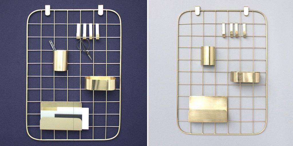 Coming-B-Organisateur-mural-metal-cuivre-dore