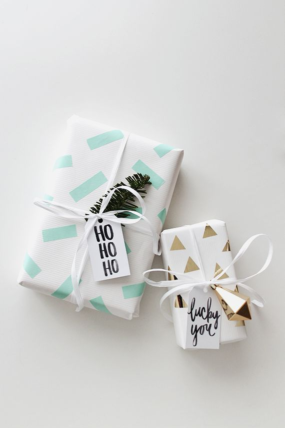 idees paquets cadeaux noel emballages rubans kraft masking tape