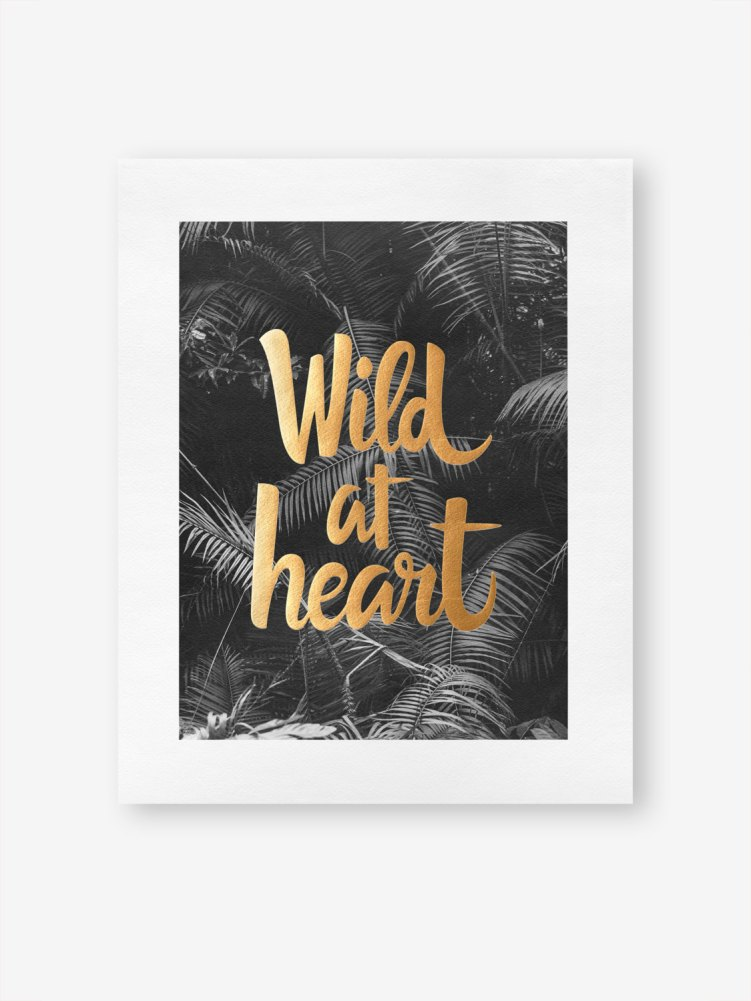 affiche art print wild at heart esty congo studio