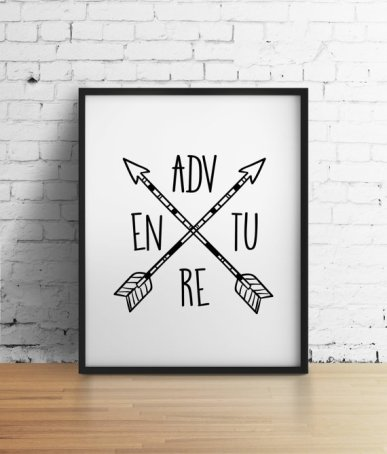 artprint affiche adventure mantra good vibes
