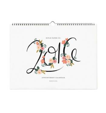 calendrier 2016 floral rifle paper co
