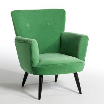 fauteuil deco velours vert scandi vintage am pm