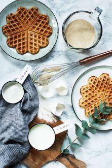 gaufres maison diy forme de coeur idee petit dejeuner saint valentin