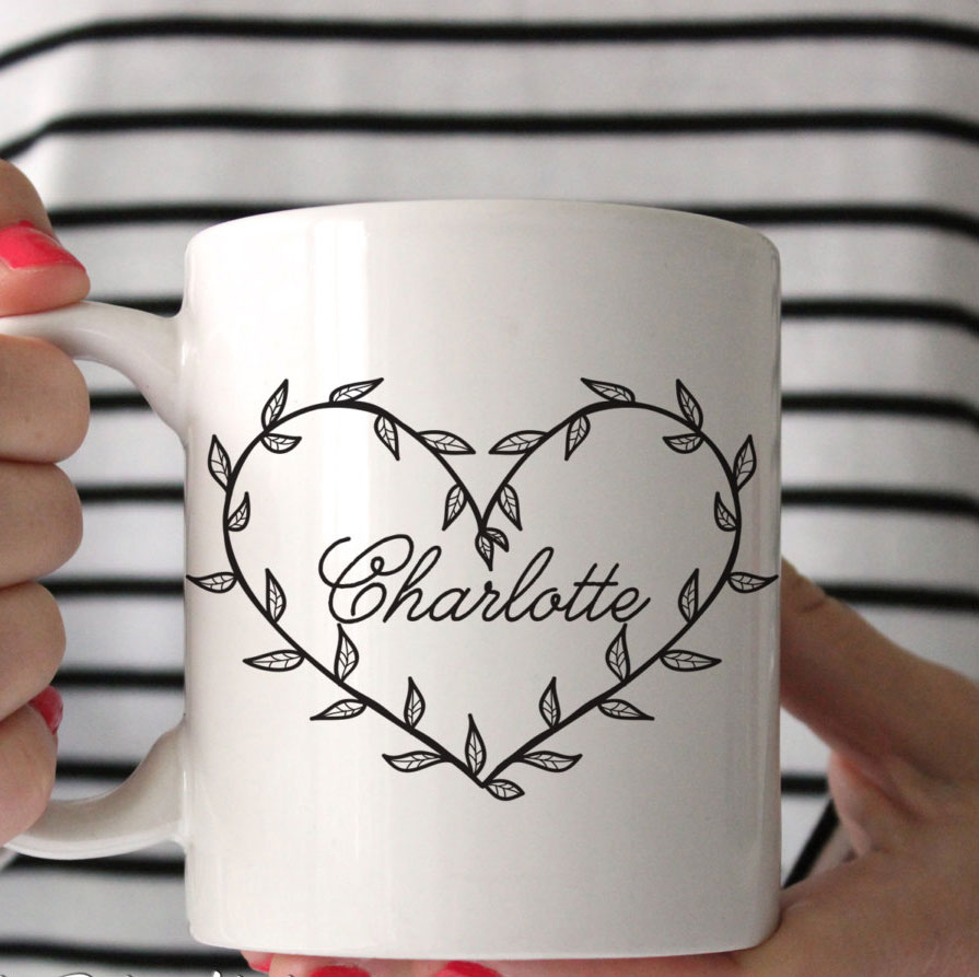 mug tasse originale nom personnalise coeur idee cadeau saint valentin la seinographe. Black Bedroom Furniture Sets. Home Design Ideas