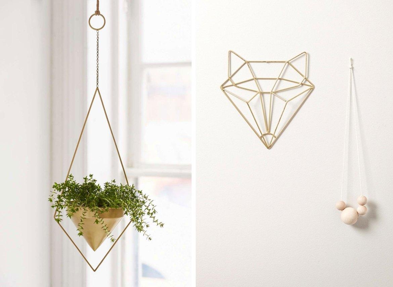 suspension plante deco murale laiton dore la seinographe. Black Bedroom Furniture Sets. Home Design Ideas