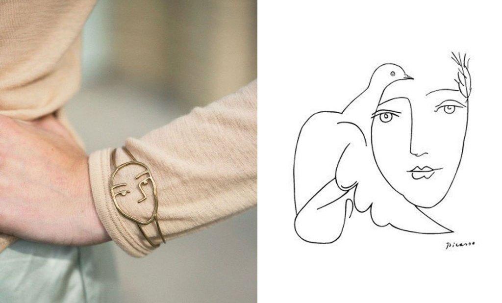 bracelet-laiton-dore-matisse-picasso