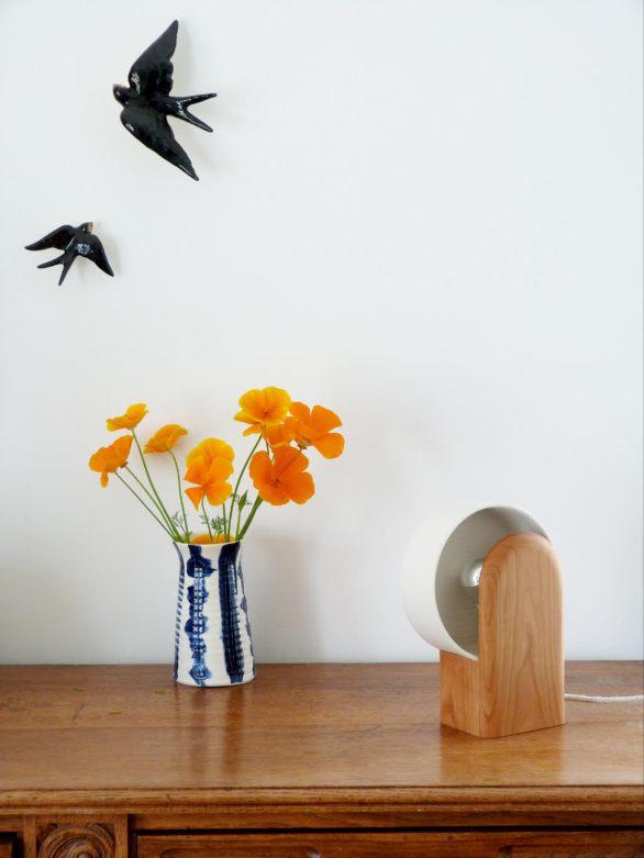 Lampe pok ambre ceramique bois porcelaine_new beginnings 2