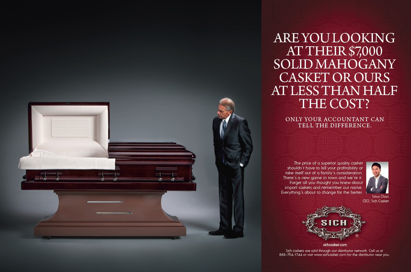 Funeral Print Advertising La Ads