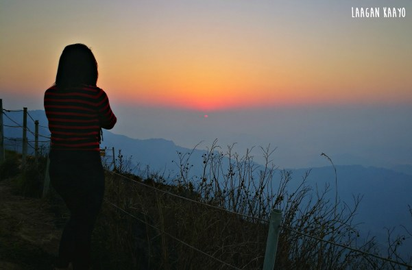 Sunrise at Phu Chi Fa Forest Park in Chiang Rai, Thailand