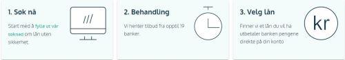 Lånemegleren sin online søknadskjema for opptil 500 000 kr